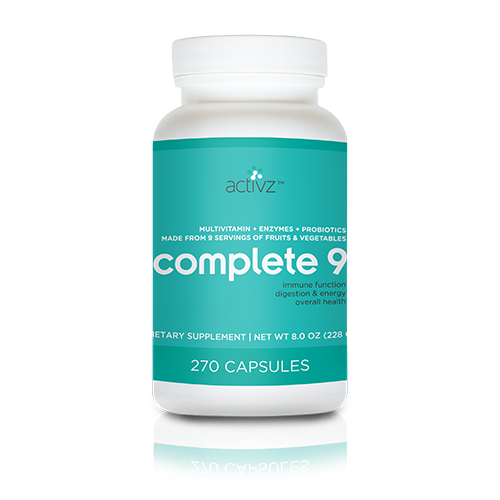 Activz Complete 9 - 9 a Day Plus Whole Food Vitamins