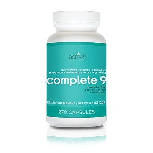 Activz Complete 9 - 9 A Day Plus - (270 Capsules One Month Supply)