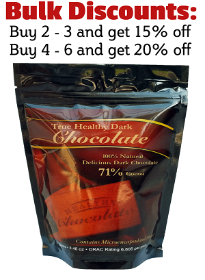 True Healthy Dark Chocolate All Natural Dark Chocolate With 71% Cocoa Sweetened With Xylitol